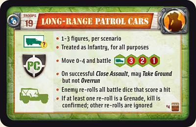 Long-Range Patrol Cars